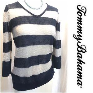 Sheer knit Tommy Bahama top.